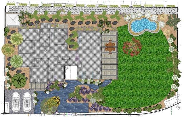 המפה הכללית של תכנית הגינה