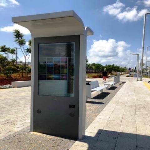 מסך מגע לתחבורה ציבורית