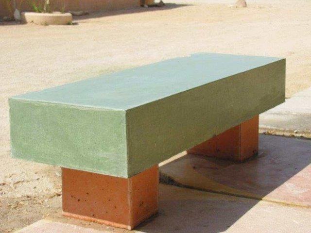 ספסל מבטון