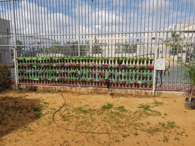 פינה לגידול חקלאי על גדר