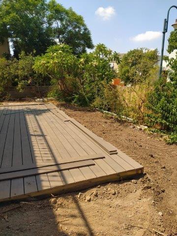 הכנת קרקע מקומית בגינה