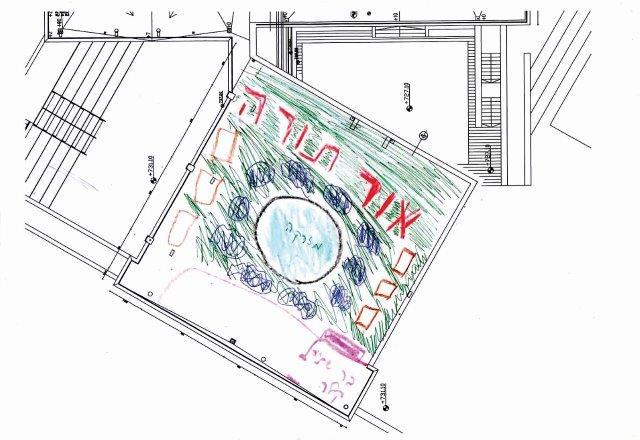 תוכניות התלמידים לעיצוב הגן - גג