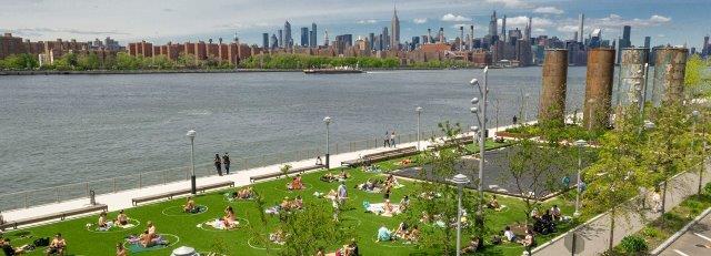 פארק הדומינו על גדות הנהר