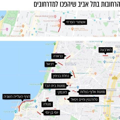 מדרחובים בתל אביב